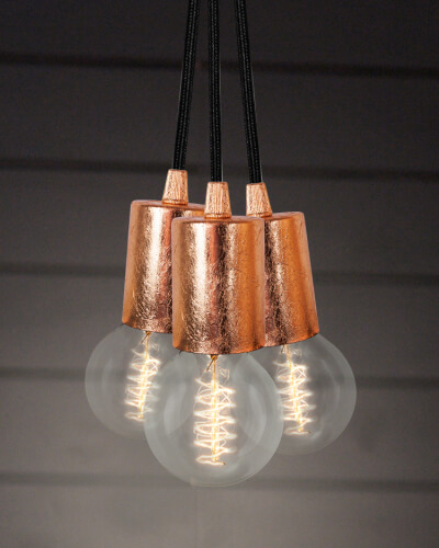 Pendelleuchte Bulb Attack Cero Blattkupfer