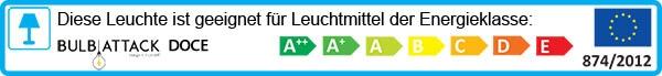 Leuchte Bulb Attack Doce Energielabel: A++ bis E