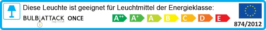 Leuchte Bulb Attack Once Energielabel: A++ bis E