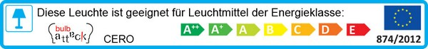 Leuchte Bulb Attack Cero Energielabel: A++ bis E
