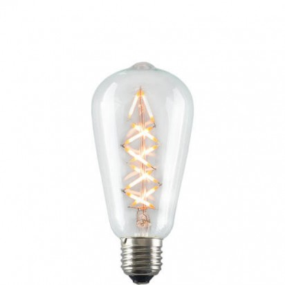 Decorative Dimmable Marine Spiral LED Filament Light Bulb E27 5W on