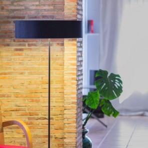 Moderne Stehlampe Bulb Attack DOCE Slim 1/F aus Metall und laminiertem Gewebe