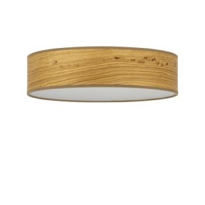 Sotto Luce TSURI Elementary ceiling lamp with natural wooden veneer shade
