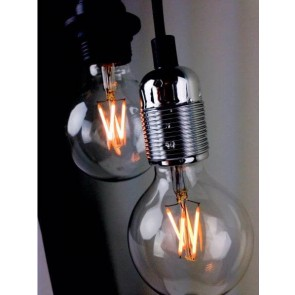 Decorative Dimmable Bubble LED Filament Light Bulb E27 4W black