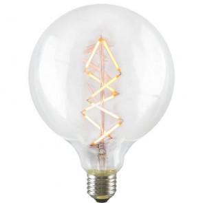 Decorative Dimmable Big Bubble Spiral LED Filament Light Bulb E27 6,5W on
