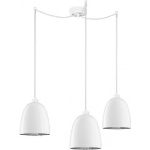 Sotto Luce Awa Elementary 3/S  with opal/silver lamp shade