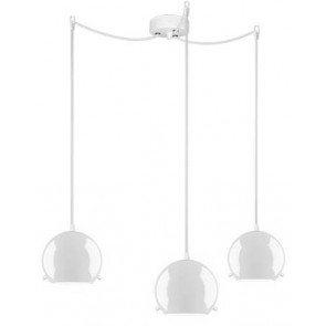 Sotto Luce MYOO Elementary 3/S pendant light with black/opal lamp shade