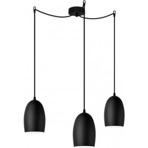 Sotto Luce UME Elementary 3/S black hanging lamp