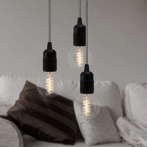 Industrie-Lampe Bulb Attack Uno 3 schwarz
