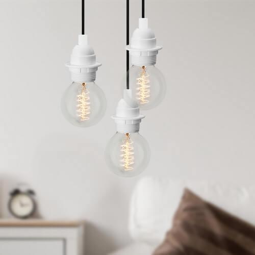 Minimalistische-Hängeleuchte Bulb Attack Uno Plus 3 weiß