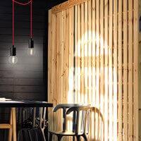Loft Designer Hängeleuchte Bulb Attack Cero schwarz und rot