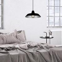 Moderne Hängelampe Bulb Attack Cinco mit Metall-Lampenschirm schwarz / Silberflocken