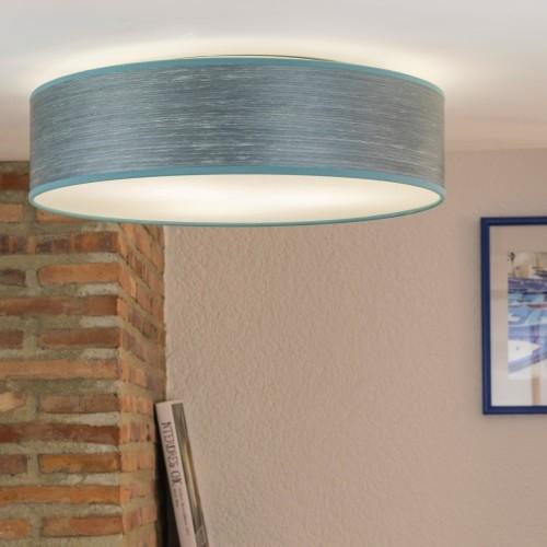 Naturholzfurnier-Deckenleuchte Bulb Attack Ocho blau