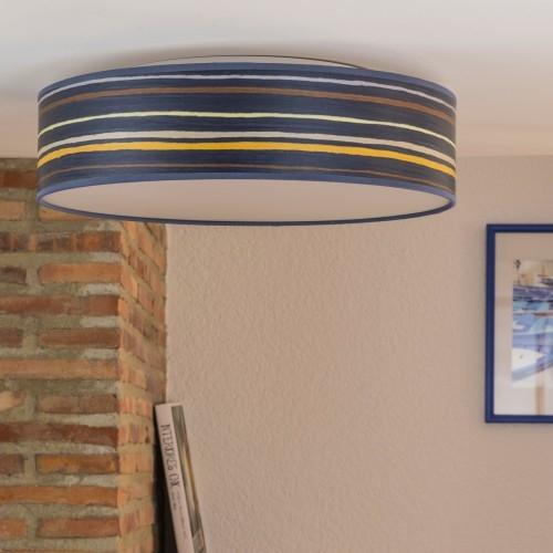 Deckenleuchte Bulb Attack Ocho L/C blau gestreift