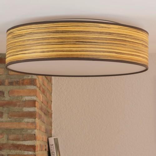 Naturholzfurnier-Deckenlampe Bulb Attack Ocho 400mm - Zebrano