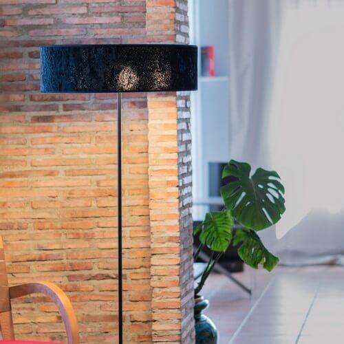 Stehlampe Bulb Attack Quince Slim 1/F schwarz