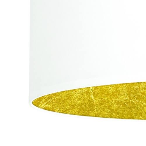 Textil Lampenschirm weiß und Blattgold