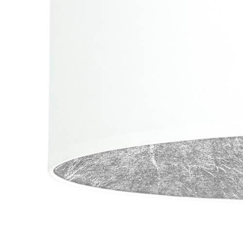 Textil Lampenschirm weiß und Blattsilber
