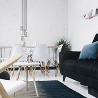 Funktional Pendelleuchte Bulb Attack Uno S5 Group mit Fassung E27 Blattsilber im Wohnzimmer