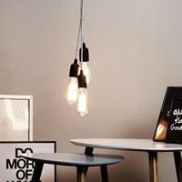 Exklusive Designer Hängelampe Bulb Attack Uno S3 Group schwarz