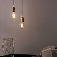 Moderne Pendellampe Bulb Attack Uno S2 mit Fassung E27 gold