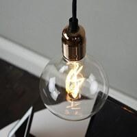 Günstige Pendelleuchte Bulb Attack Uno S1 mit Fassung E27 kupfer