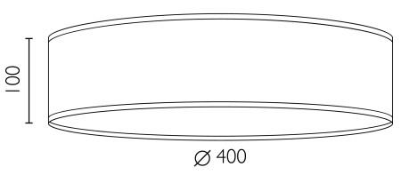 Deckenleuchte Bulb Attack Doce L/C Dimensionen