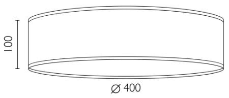 Holz-Deckenleuchte Bulb Attack Ocho 1 C Dimensionen