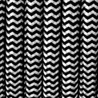 Textilkabel weiß und schwarz für Lampen