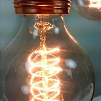 Vintage Glühbirne klar - Filament Lampe E27