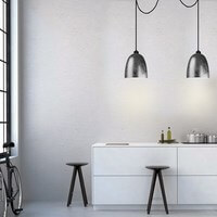 Exklusive Designer Hängeleuchte Sotto Luce Awa mit Glas-Lampenschirm Blattsilber