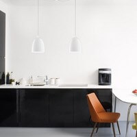 Exklusive Designer Pendelleuchte Sotto Luce Awa 2/S mit Glas-Lampenschirm opal