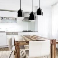 Moderne Hängelampe Sotto Luce Awa 3/S mit Glas-Lampenschirm schwarz