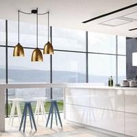 Günstige Hängeleuchte Sotto Luce Awa 3/S mit Glas-Lampenschirm Kupfer