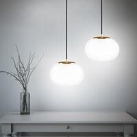 Exklusive Designer Pendellampe Sotto Luce Dosei mit Opal-Lampenschirm