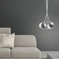 Moderne Hängeleuchte Sotto Luce Myoo mit Lampenschirm Blattsilber