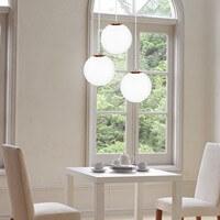 Moderne Hängelampe Sotto Luce Tsuki 3/S mit Lampenschirm opal und kupfer