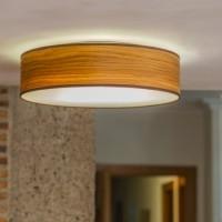 Deckenleuchte Sotto Luce Tsuri mit Holz-Lampenschirm Eiche