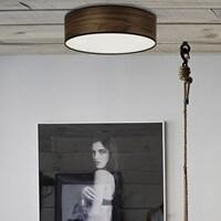 Moderne Deckenlampe Sotto Luce Tsuri mit Holz-Lampenschirm