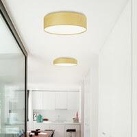 Exklusive Designer Deckenleuchte Sotto Luce Tsuri mit Naturholzfurnier-Lampenschirm