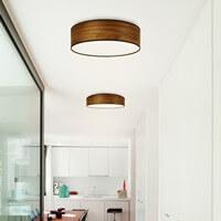 Günstige Deckenleuchte Sotto Luce Tsuri mit Holz-Lampenschirm